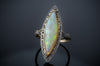 VINTAGE NAVETTE OPAL RING - SinCityFinds Jewelry