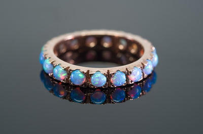 OPAL ETERNITY BAND IN GOLD