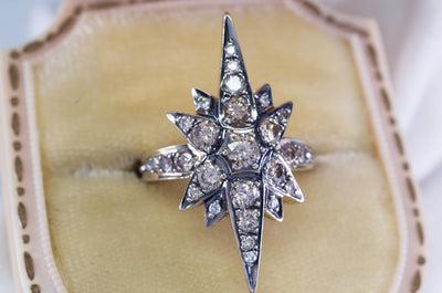 H. STERN CONTEMPORARY STAR COGNAC DIAMOND RING - SinCityFinds Jewelry
