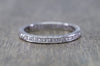 ART DECO FRENCH CUT DIAMOND ETERNITY BAND IN PLATINUM SIZE 5 1/4 - SinCityFinds Jewelry