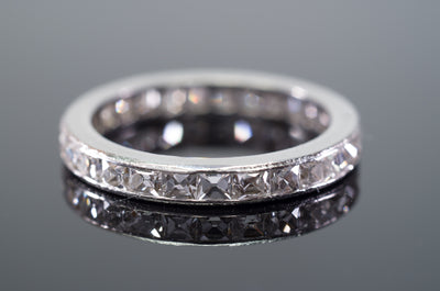 1.89CTW ART DECO FRENCH CUT ETERNITY BAND SIZE 6 - SinCityFinds Jewelry