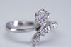 0.81CTW  FRENCH TRANSITIONAL CUT DIAMOND RING IN WHITE GOLD