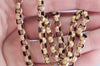 ANTIQUE SOLID GOLD BELCHER STYLE NECKLACE WITH ENGRAVED STAR MOTIFS