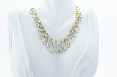 ANTIQUE MOONSTONE NECKLACE IN 15K GOLD