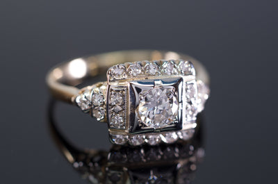 VINTAGE OLD EUROPEAN AND SINGLE CUT DIAMOND RING