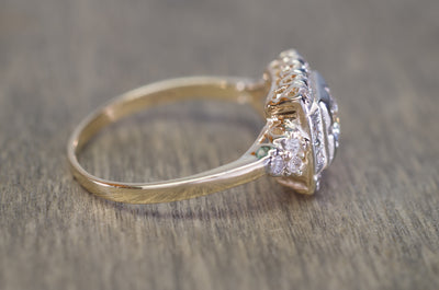 VINTAGE OLD EUROPEAN AND SINGLE CUT DIAMOND RING - SinCityFinds Jewelry