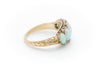 FIVE STONE OPAL AND ROSE CUT ACCENT RING