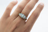 FIVE STONE OPAL AND ROSE CUT ACCENT RING - SinCityFinds Jewelry