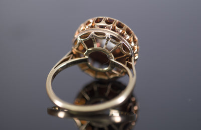 VINTAGE ROSE CUT DIAMOND CLUSTER COCKTAIL RING - SinCityFinds Jewelry