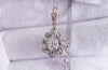 ANTIQUE PEAR CUT DIAMOND PENDANT IN SILVER AND GOLD - SinCityFinds Jewelry