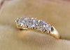 0.90CTW OLD MINE CUT FIVE STONE BAND - SinCityFinds Jewelry
