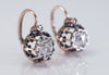 18k ROSE GOLD FRENCH ROSE CUT DORMEUSES  EARRINGS - SinCityFinds Jewelry