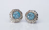 1.50CTW VINTAGE BLUE ZIRCON STUD EARRINGS - SinCityFinds Jewelry