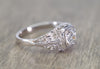 0.36CT OLD EUROPEAN CUT DIAMOND SOLITAIRE IN ART DECO VINTAGE SETTING