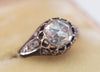 ANTIQUE ROSE CUT DIAMOND IN ENAMELED GOLD SETTING - SinCityFinds Jewelry