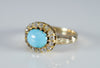 ANTIQUE TURQUOISE AND OLD MINE CUT DIAMOND RING CONVERSION - SinCityFinds Jewelry