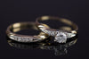 0.30CTW VINTAGE DIAMOND WEDDING SET SIGNED BLUEBIRD - SinCityFinds Jewelry
