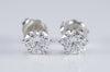 1CTW  JAMES ALLEN DIAMOND STUDS IN SCALLOPED 6 PRONG BASKET