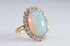 VINTAGE OPAL AND OLD MINE CUT COCKTAIL RING