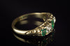 OLD CUT DIAMOND AND EMERALD HALF HOOP BAND IN 18K - SinCityFinds Jewelry