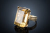 25CT CITRINE COCKTAIL RING IN GOLD