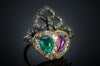 VICTORIAN TWIN HEARTS CONVERSION RING - SinCityFinds Jewelry