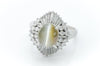 CATS EYE CHRYSOBERYL BALLERINA RING - SinCityFinds Jewelry