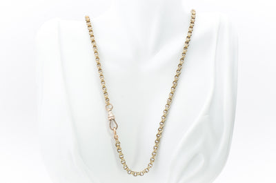 25 INCH LONG 9K GOLD VINTAGE CHAIN