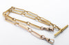 30G 18k GOLD TROMBONE LINK CHAIN - SinCityFinds Jewelry