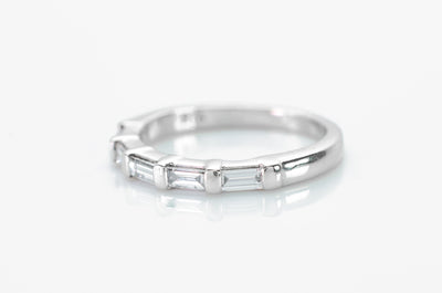 0.50CTW LONG BAGUETTE HALF ETERNITY BAND