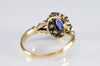 ANTIQUE SAPPHIRE AND OLD MINE CUT RING