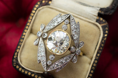 BELLE EPOQUE INSPIRED SEMI MOUNT - SinCityFinds Jewelry