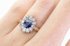 VICTORIAN SAPPHIRE AND OLD CUT DIAMOND RING - SinCityFinds Jewelry