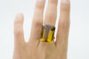 32CT CITRINE COCKTAIL RING IN 18K gold - SinCityFinds Jewelry