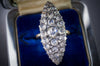 LARGE ROSE CUT DIAMOND NAVETTE - SinCityFinds Jewelry