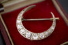 2.25CTW DIAMOND CRESCENT BROOCH - SinCityFinds Jewelry
