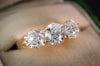 2.25CTW OLD EUROPEAN CUT THREE STONE RING - SinCityFinds Jewelry