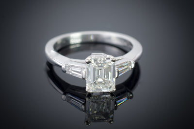 1.33CTW EMERALD CUT DIAMOND RING GIA CERTIFIED J VS1 - SinCityFinds Jewelry