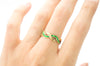 18K GOLD GREEN ENAMEL ETERNITY BAND - SinCityFinds Jewelry