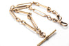 9K GOLD FANCY TROMBONE LINK CHAIN - SinCityFinds Jewelry