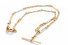 VINTAGE 18K ROSE GOLD AND PLATINUM FANCY LINK CHAIN - SinCityFinds Jewelry