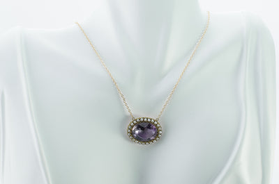AMETHYST SPLIT PEARL CONVERSION NECKLACE - SinCityFinds Jewelry
