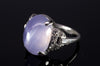 ART DECO  11CT STAR SAPPHIRE RING WITH DIAMOND ACCENTS - SinCityFinds Jewelry