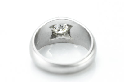 1.1CT OLD EUROPEAN CUT PLATINUM GYPSY RING - SinCityFinds Jewelry
