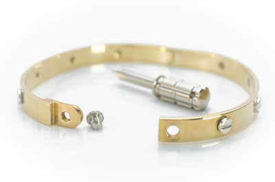 23 GRAM 9KT GOLD BANGLE WITH SCREW