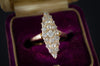 0.70CTW OLD CUT DIAMOND NAVETTE RING - SinCityFinds Jewelry