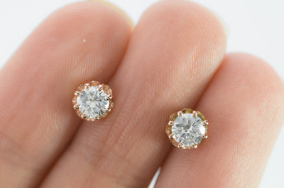 0.66CTW MRB DIAMOND STUDS IN ROSE GOLD