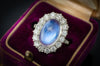 MADE TO ORDER MOONSTONE AND DIAMOND RING - SinCityFinds Jewelry