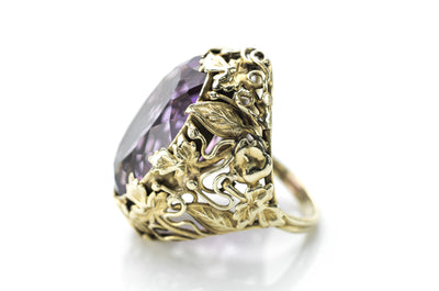 ART NOUVEAU AMETHYST COCKTAIL RING