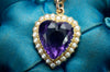 AMETHYST AND SPLIT PEARL HEART SHAPED PENDANT - SinCityFinds Jewelry